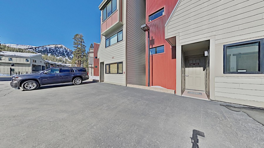 Front door and view of Mammoth Mountain