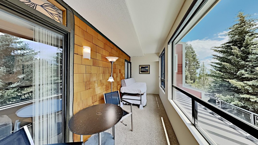 Sleeping in Sunroom with View of Mammoth