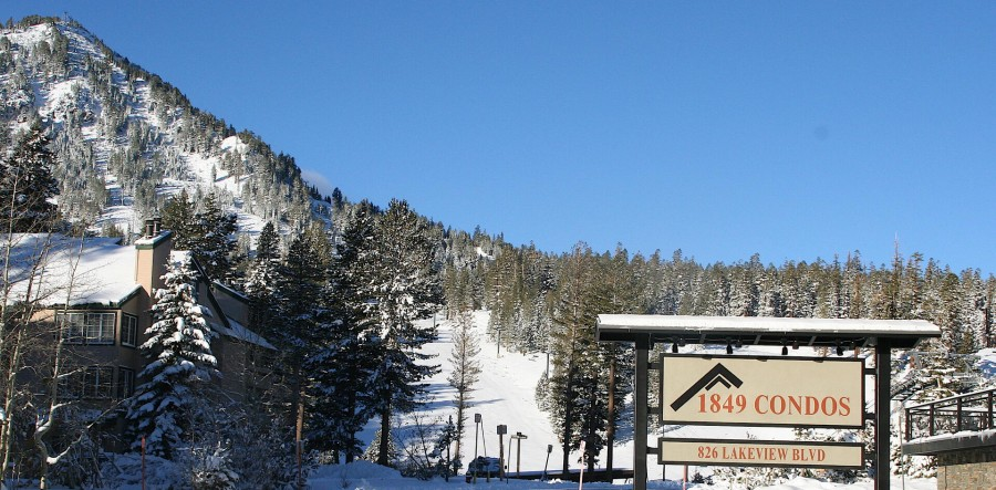 Steps to Mammoth Mountain