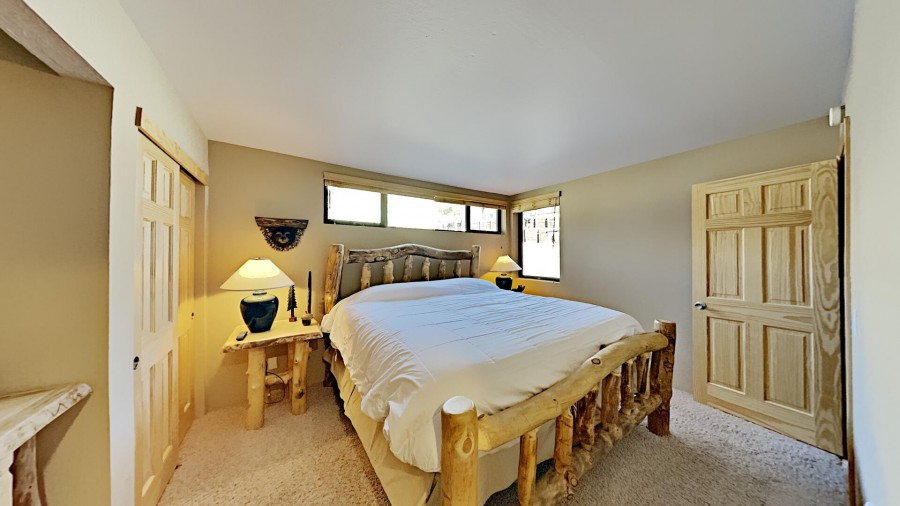 King Bedroom With Full Bath And TV