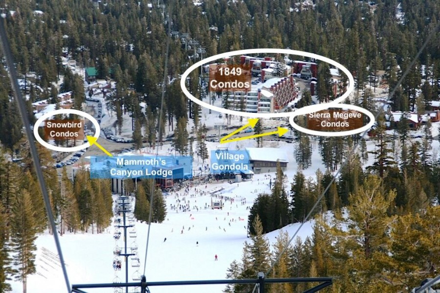 Slopeside Location to Mammoth