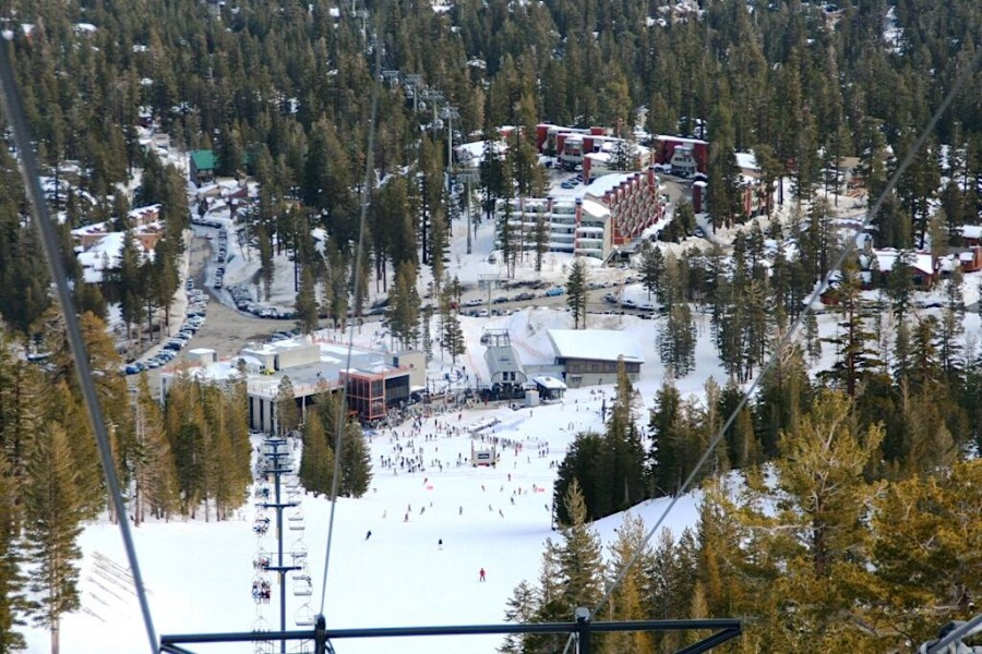 View from Chairlift of 1849 Condos