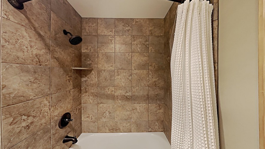 Private Bath in Bedroom 1