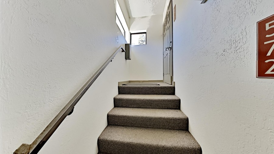 2 Flights of Stairs to Main Level of Home