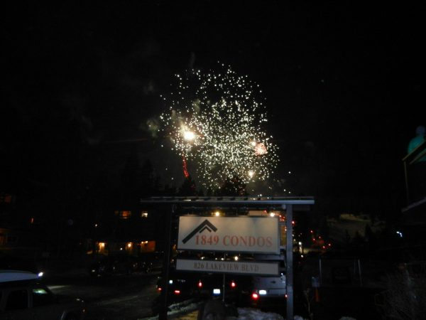 fireworks celebration for night of lights event in mammoth at 1849 condos