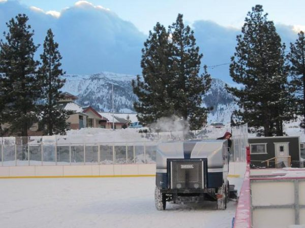 ice skating in Mammoth Lakes