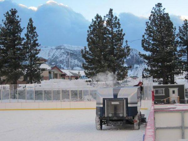 ice skating in Mammoth Lakes
