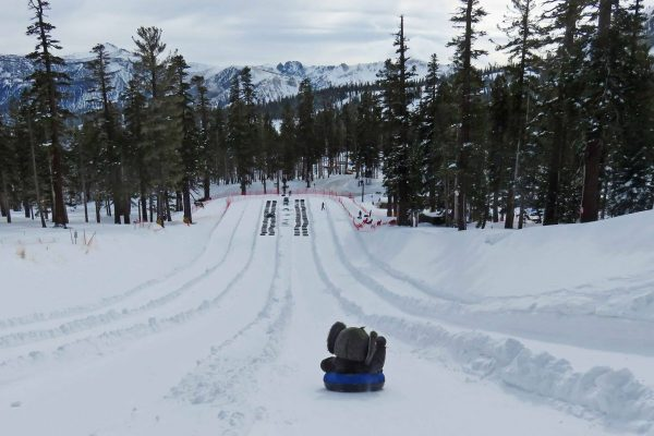 snow tubing in Mammoth Lakes
