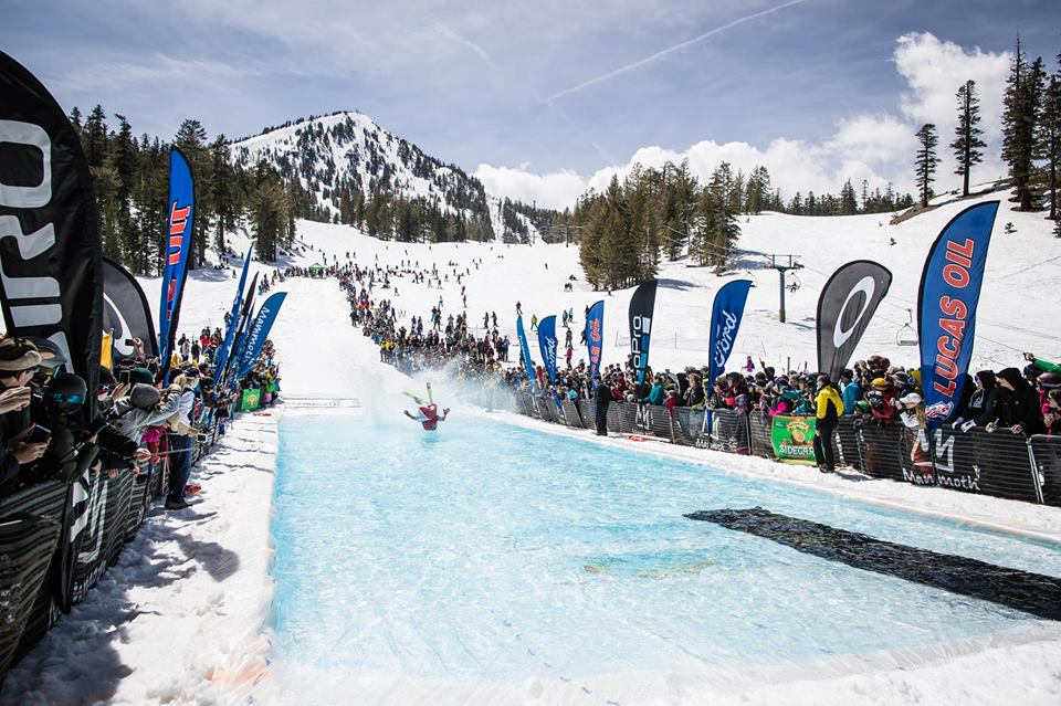 The Pond Skim is a closing of the season- a passing of the baton from winter to spring. It is also one of the most exciting and crazy events you can attend in Mammoth.