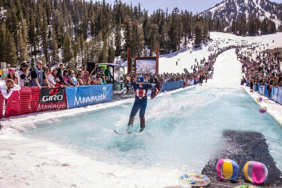 The Pond Skim is a weekend party all about the thrill of winter sports and how, even at the tail end of the season, the country's finest and most seasoned masters can still commit to a thrilling romp down the snowy and icy slopes.