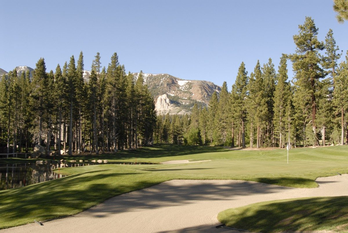 View of mountains at Mammoth Sierra Star Golf Course
