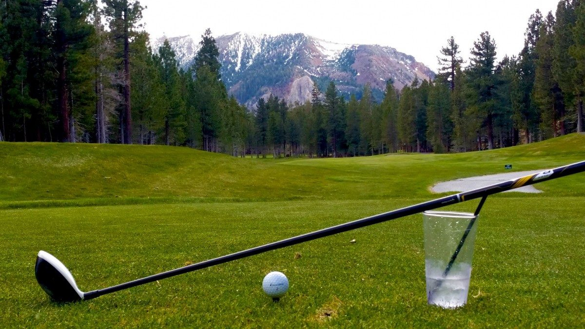 Golfing shot Sierra Star Golf Course in Mammoth Lakes, CA
