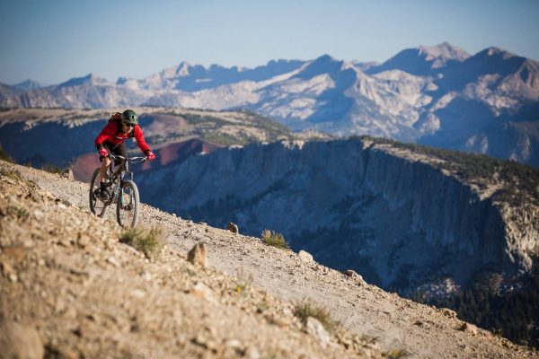 view of mammoth mountain bike park in california