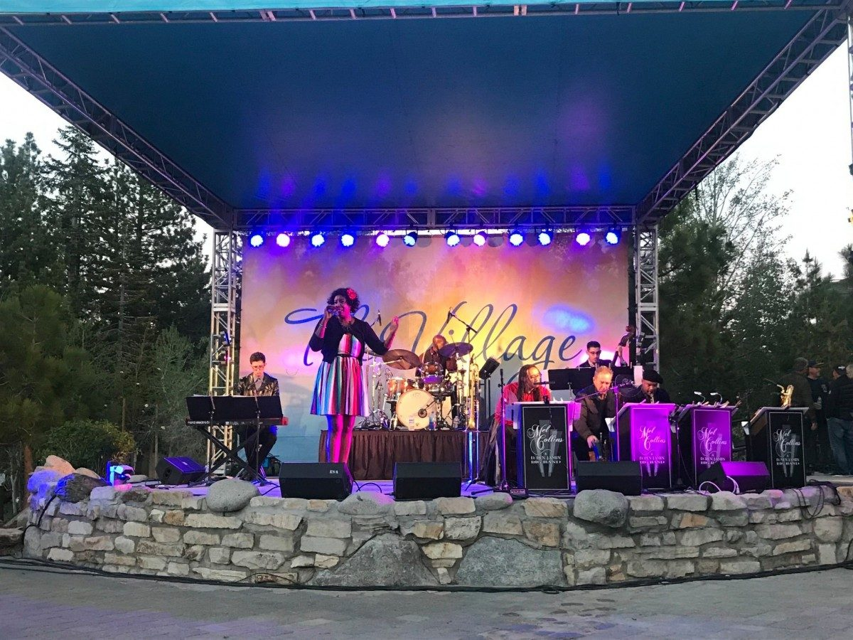 live band at mammoth jazzfest in june
