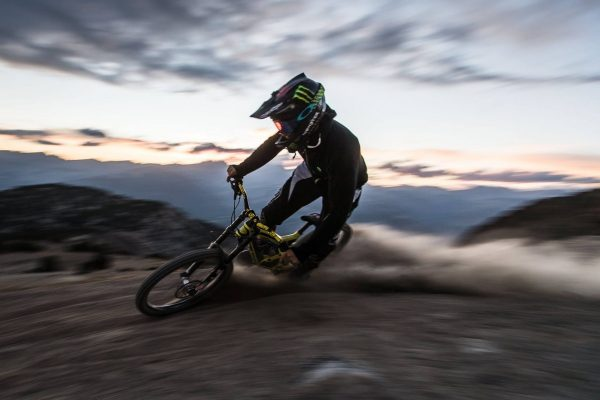 Motorized mountain bike in Mammoth, CA