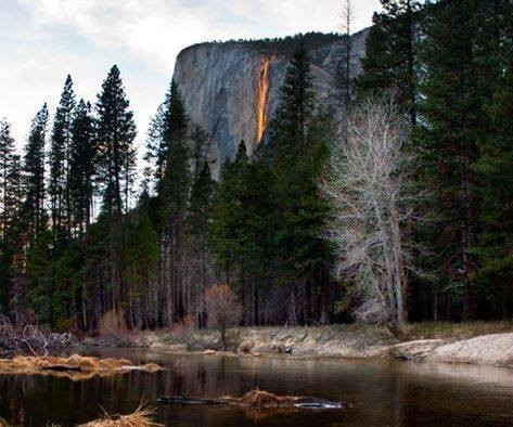 Horsetail fall in Yosemite National Park