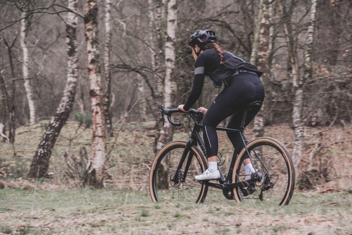 cyclist on a trail