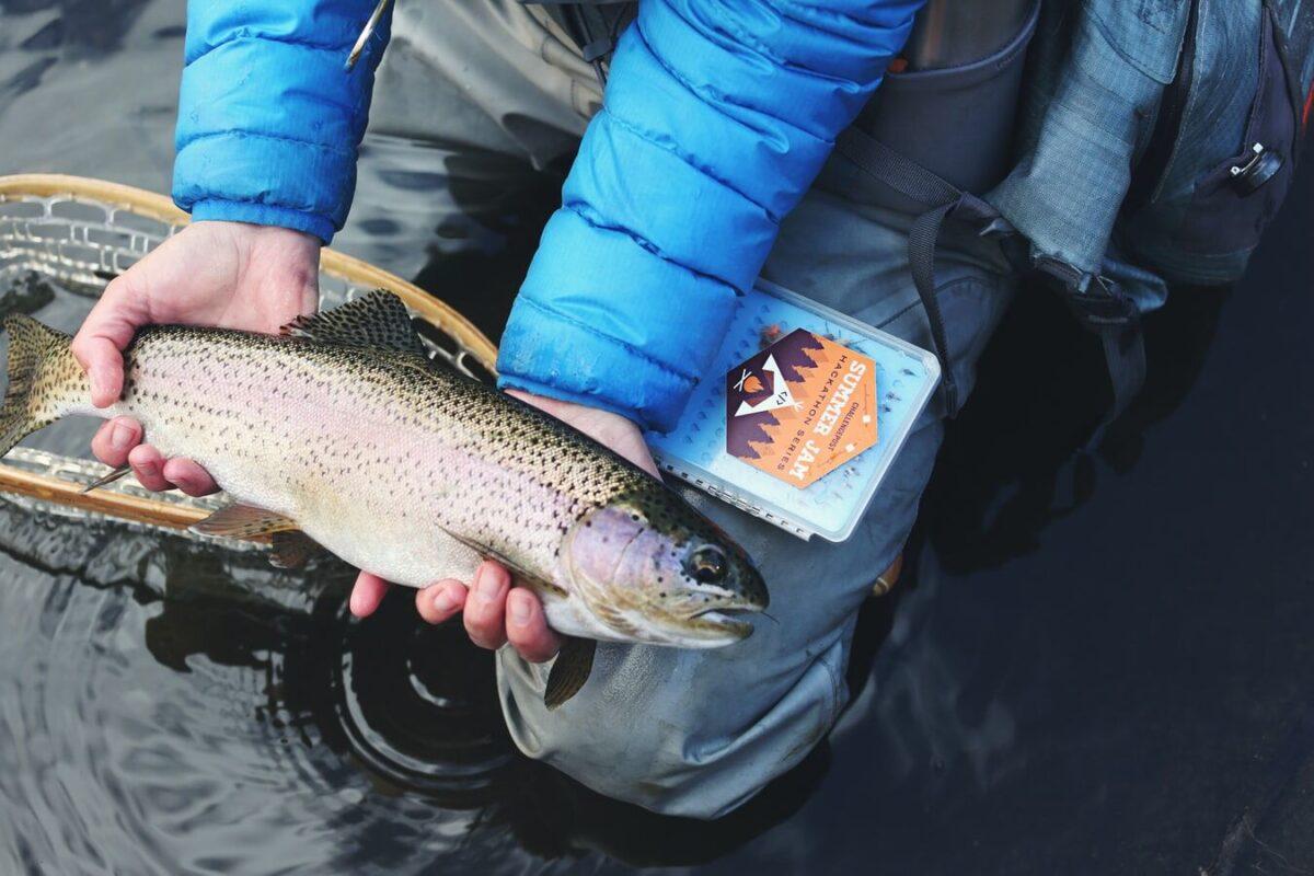 fisherman holding a fish
