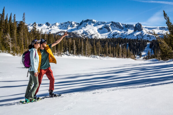 Cross-country skiing and snowshoeing, Mammoth Lakes