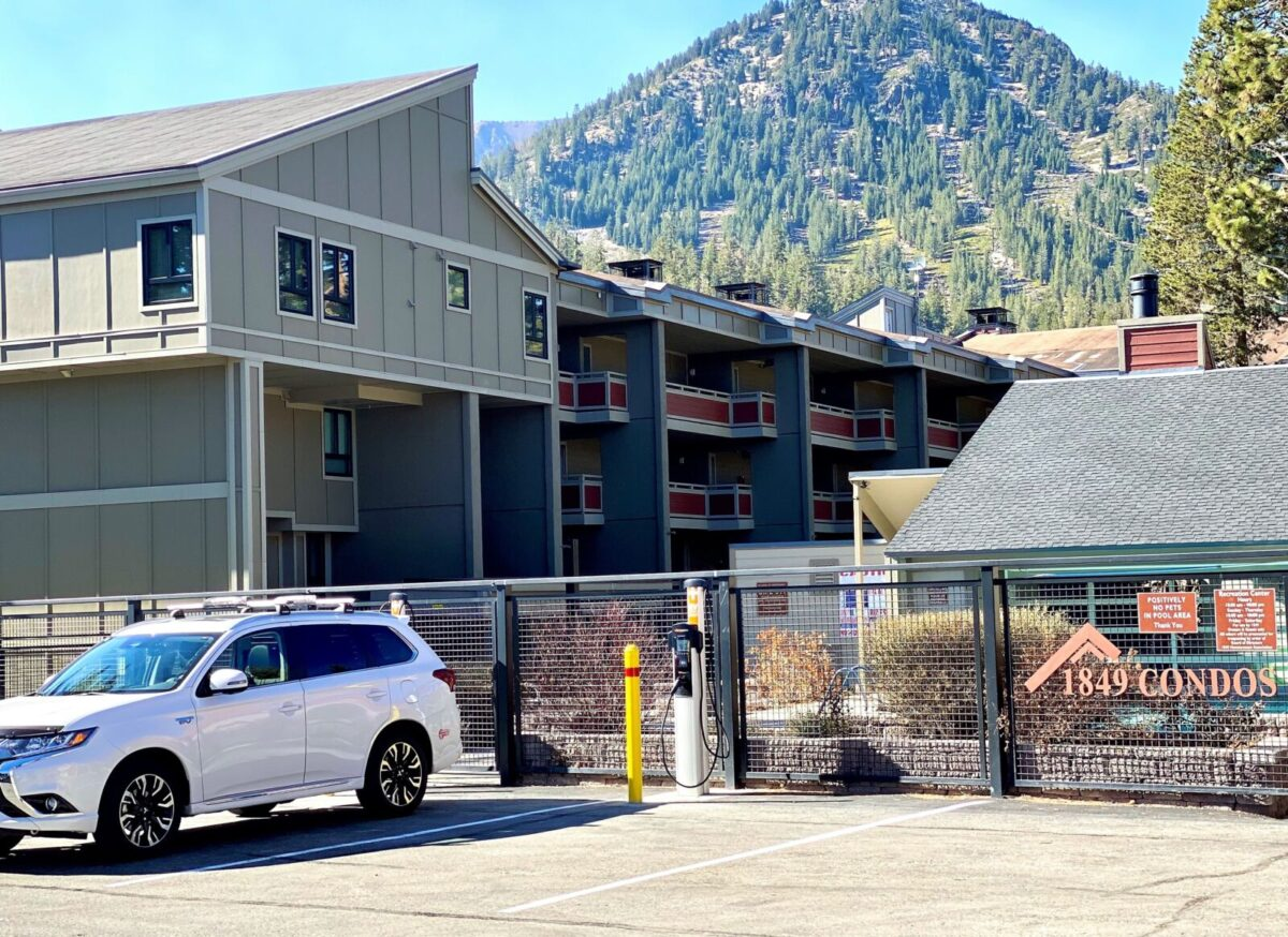 Electric Car Charging at 1849 Mountain Rentals